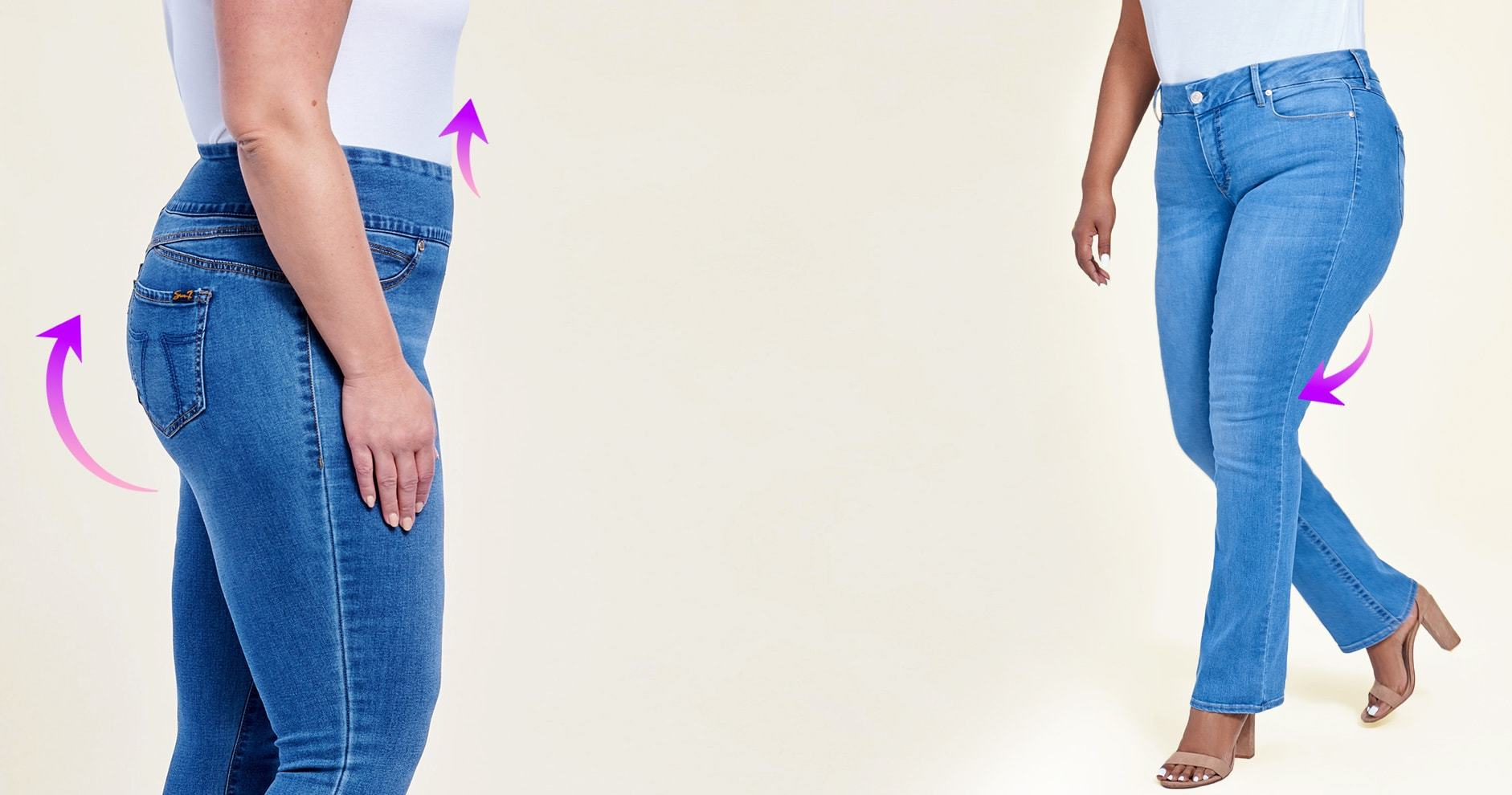 Solution Fit. Body-shaping jeans that lift and sculpt in all the right places