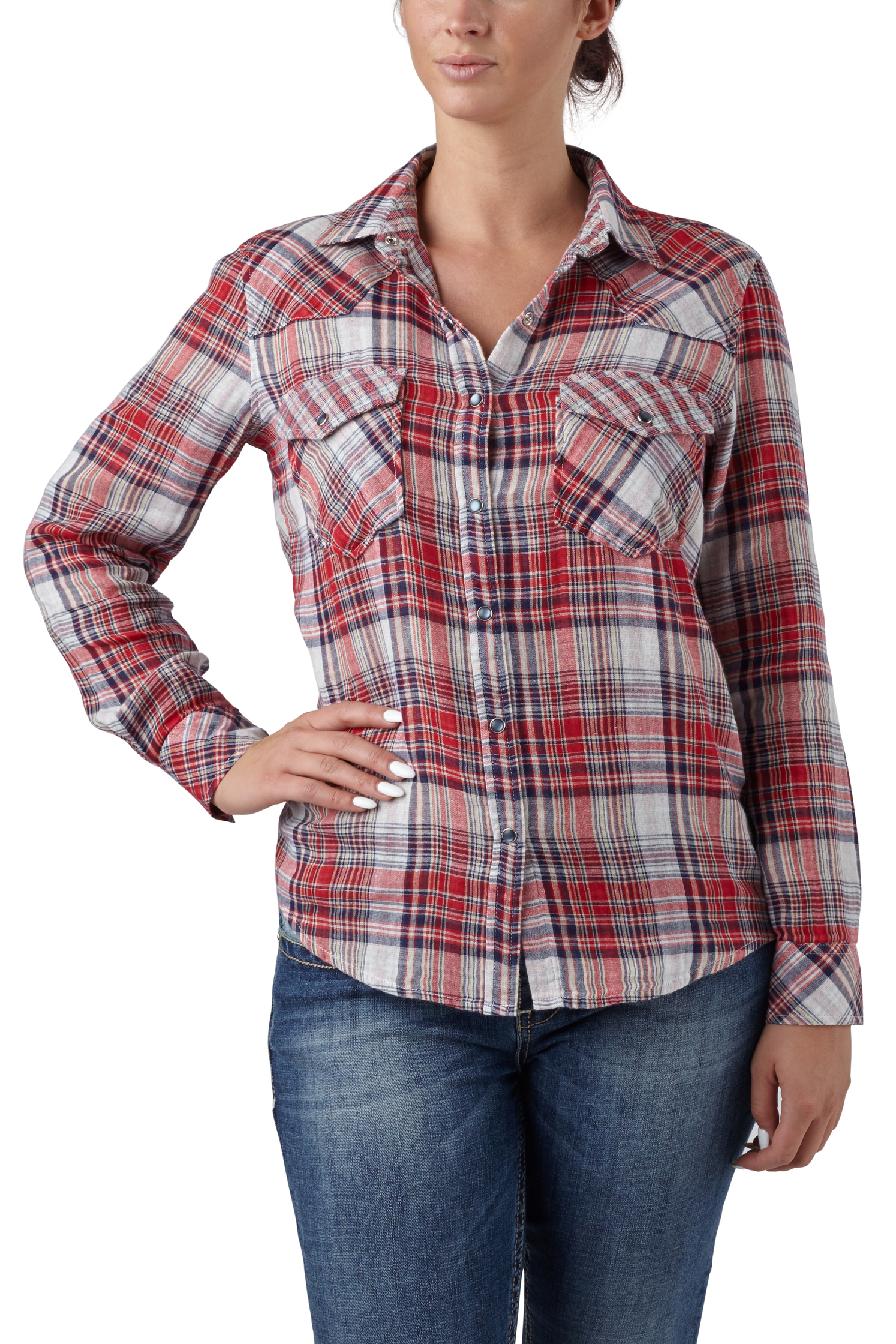 seven7 jeans relax plaid shirt