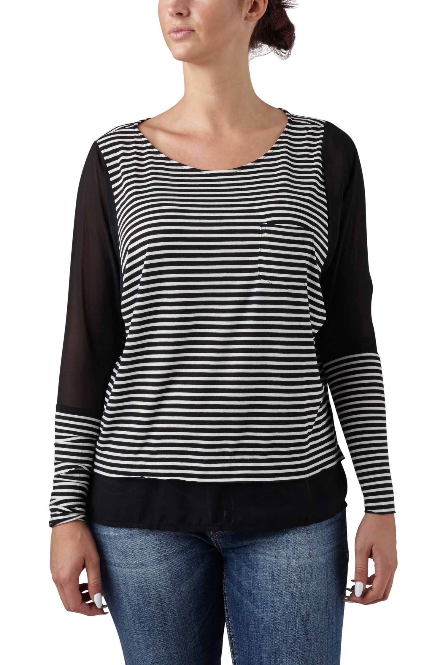 seven7 jeans striped tee