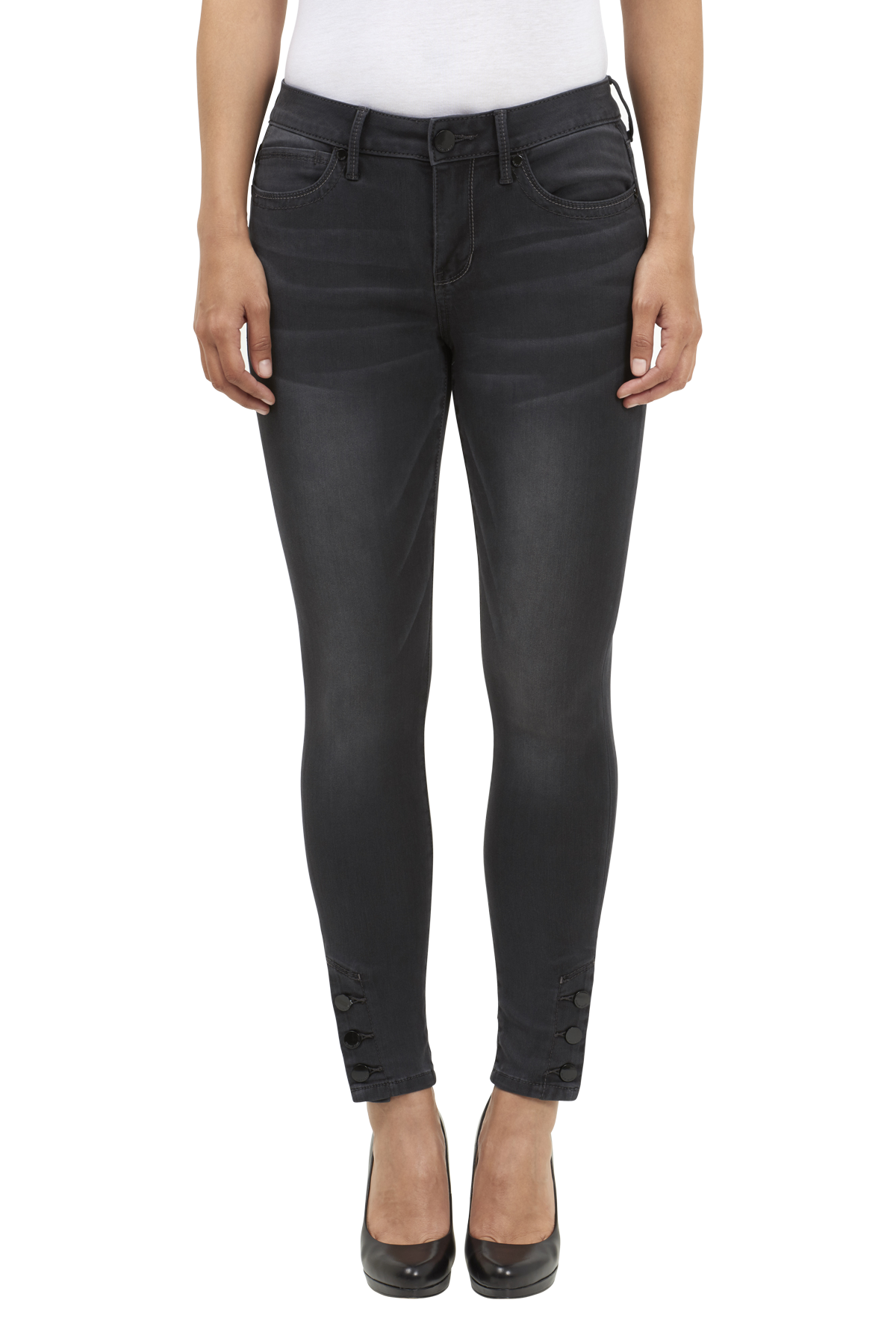 Seven7 Jeans Legging with Ankle Button Detail