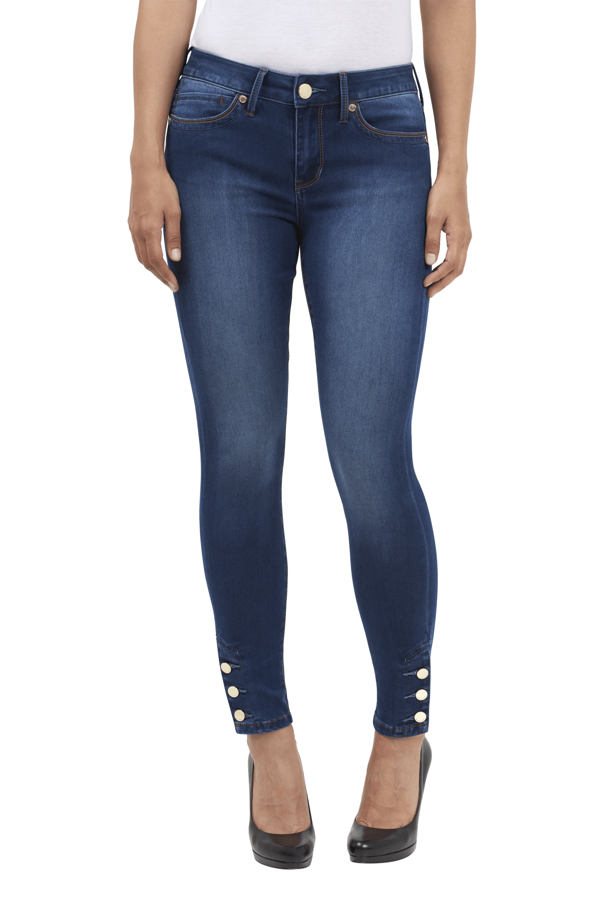 Seven Jeans Leggings with Ankle Button Detail