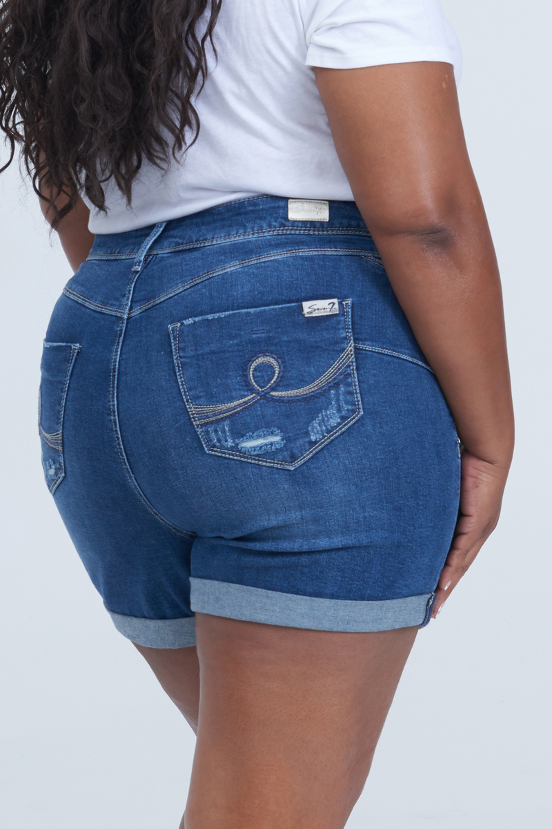 a1d64cc86db Booty Shaper Short with Rolled Cuff at Seven7 Jeans