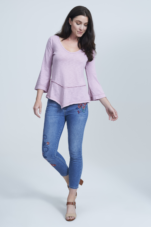 seven7 jeans vneck tunic