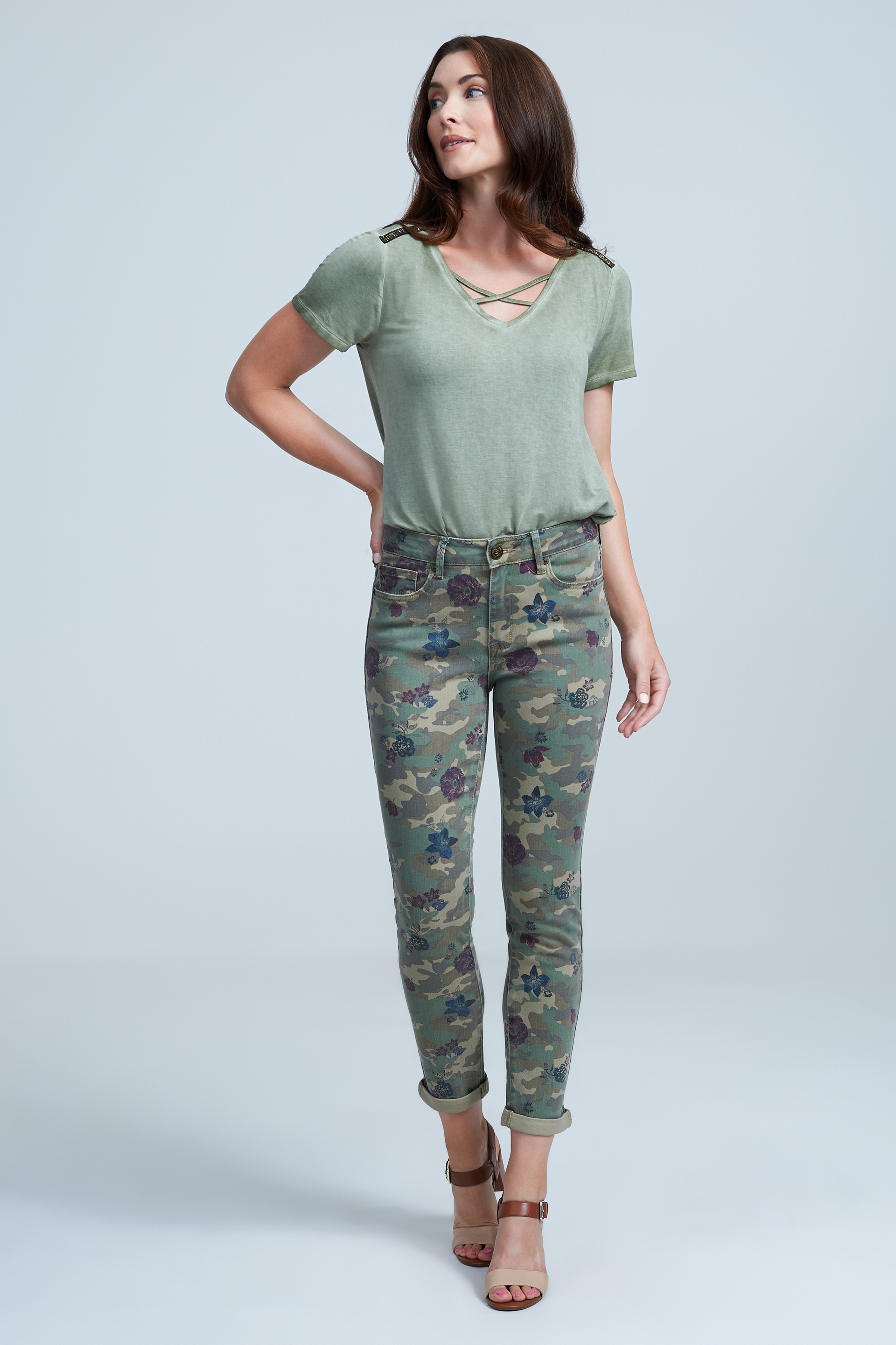 Seven7 Jeans High Rise Slim Straight Camo Jean <p>A cool camo pattern updates this slim-straight jean cut with a flattering high rise. Featuring classic five-pocket styling, the pair comes in denim featuring slight stretch for a sleek shape that feels great on the body.</p>