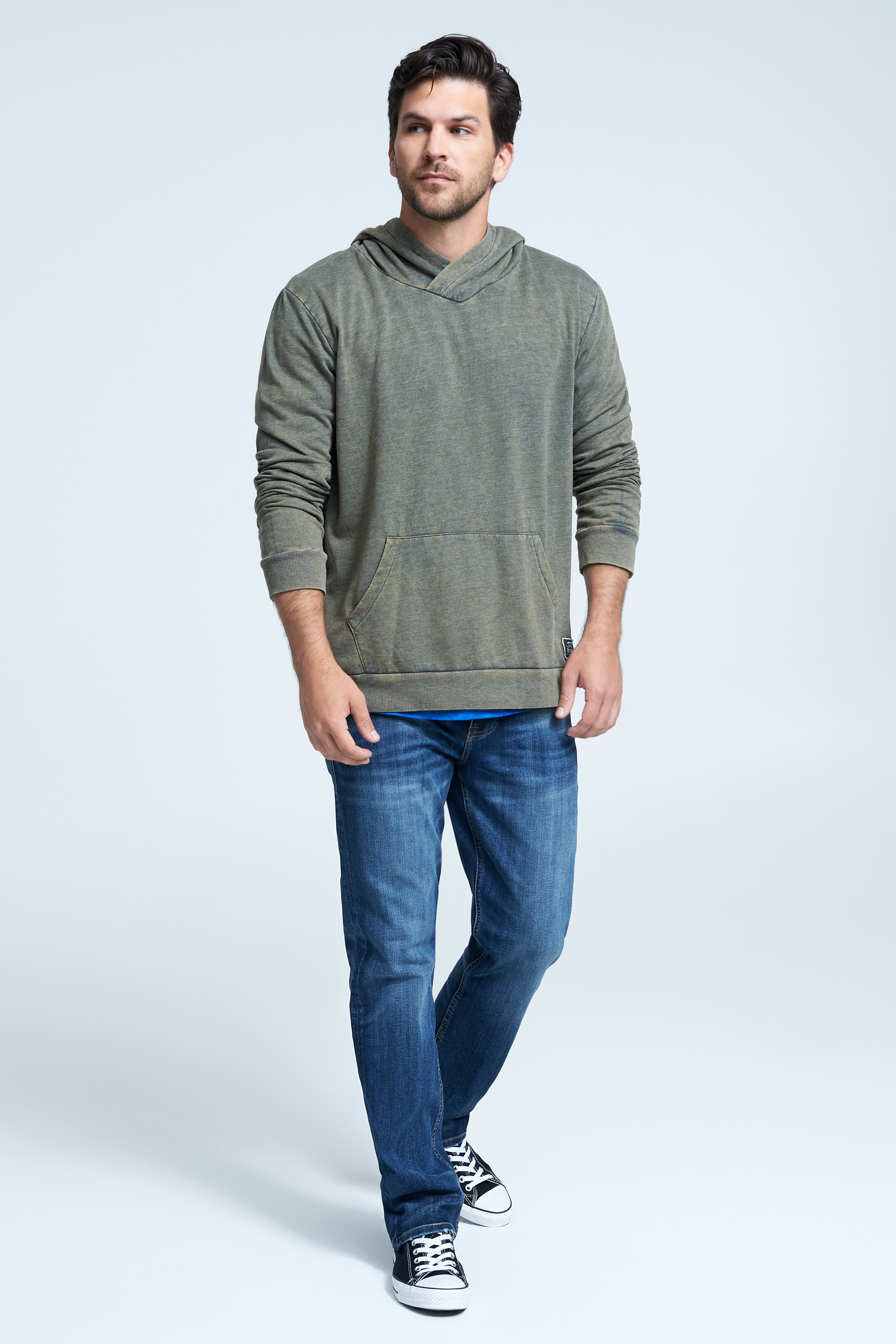 Seven7 Jeans Lightweight Fleece Hooded Tee  <p>Made from feel-good triblend fleece, this hoodie features an easygoing fit with a cozy kanga pocket. The perfect addition to any casual wardrobe.</p>